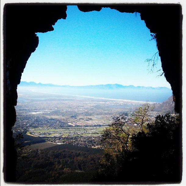 View from the Elephant's Eye, a cave at Silvermine Nature Reserve.